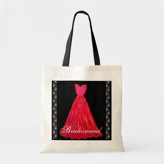 RED Bridesmaid Dresses Cotton Tote Bag