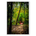 Red Bridge in the Forest Card