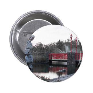 Red Bridge Pinback Button