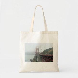 Red bridge with cars budget tote bag