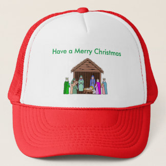 Red Brim Christmas Greeting Hat