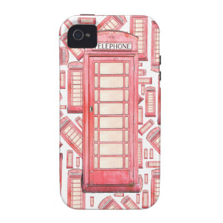 Red British phone booth pattern phone case Vibe iPhone 4 Covers