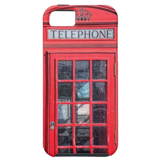 Red British Phone Box from London iPhone SE/5/5s Case