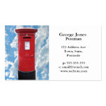 Red British Post box Double-Sided Standard Business Cards (Pack Of 100)