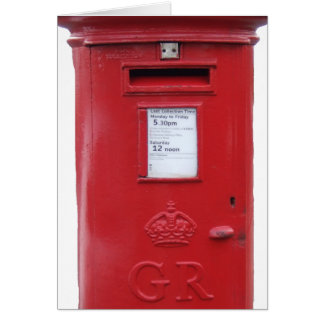 Red British Post box Greeting Card