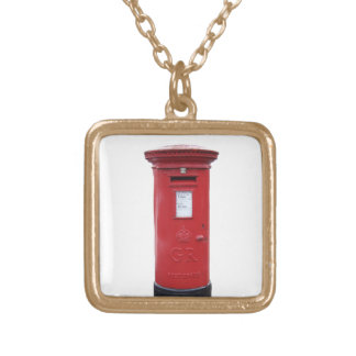Red British Post box Necklace