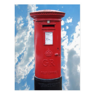 Red British Post box Postcards