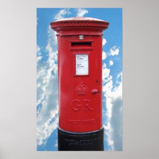 Red British Post box Poster
