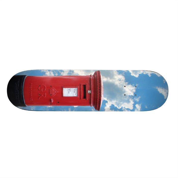 Red British Post box Skateboard