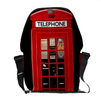 Red British Telephone Box Messenger Bag