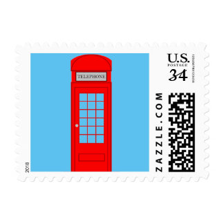 Red British Telephone Box Postage