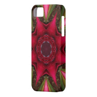 Red Bromeliad Star iPhone SE/5/5s Case