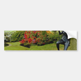 Red Bronze statue in English country garden, Engla Bumper Stickers