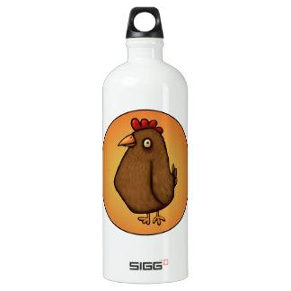 Red Brown Chicken Standing Tall Water Bottle