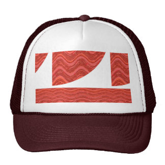 RED BROWN Chocolate WAVES:  lowprice GREETINGS Hats