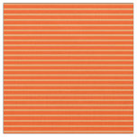 [ Thumbnail: Red & Brown Colored Lined/Striped Pattern Fabric ]
