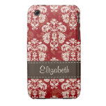 Red Brown Damask 3g 3gs Case-Mate Case Cover Case-Mate iPhone 3 Case