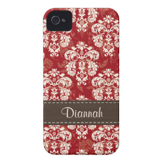 Red Brown Damask BlackBerry Bold Case Mate Cover
