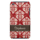 Red Brown Damask iPod Touch 4th Gen Case-Mate Cove iPod Touch Covers