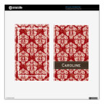 Red Brown Damask Kindle Fire Skin