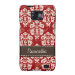 Red Brown Damask Samsung Galaxy S Case Cover Samsung Galaxy SII Cover