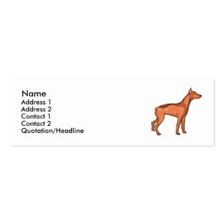 Red/Brown Doberman Pincher Mini Business Card