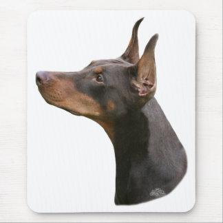 Red/brown Doberman Pinscher head Mousepad