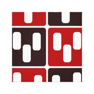 Red & Brown Domino Design Canvas Print