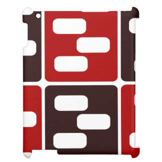 Red & Brown Domino Design Case For The iPad 2 3 4