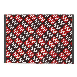 Red & Brown Domino Design Covers For iPad Mini