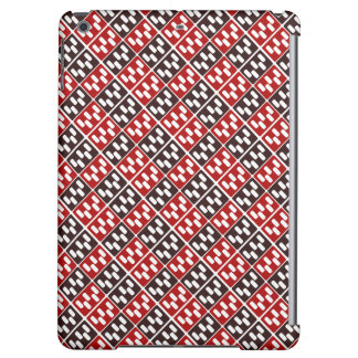 Red & Brown Domino Design iPad Air Cases