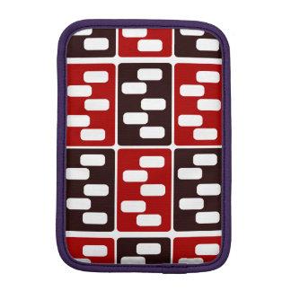 Red & Brown Domino Design iPad Mini Sleeve