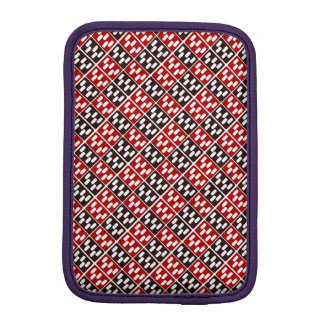 Red & Brown Domino Design iPad Mini Sleeves