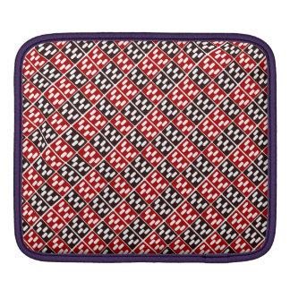 Red & Brown Domino Design iPad Sleeve