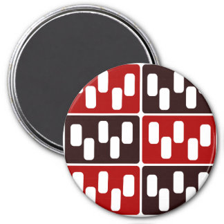 Red & Brown Domino Design Magnet