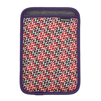 Red & Brown Domino Design Sleeve For iPad Mini
