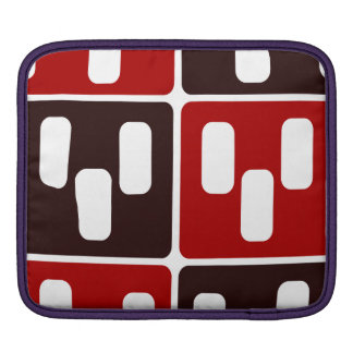 Red & Brown Domino Design Sleeve For iPads