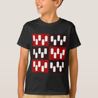 Red & Brown Domino Design T-Shirt