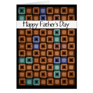 red brown Father's Day Greeting Card