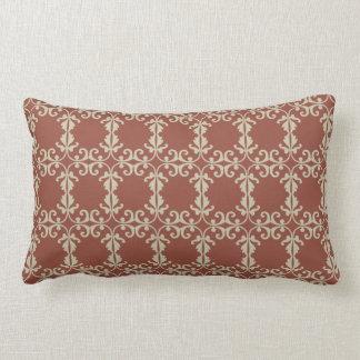 Red-Brown Florish Lumbar Pillow