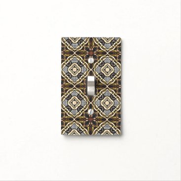 BatikBlazeBoutique Red Brown Gray Ochre Hip Orient Bali Art Motif Light Switch Cover