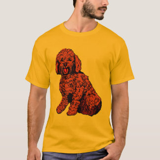 Red Brown Labradoodle Men's T-Shirt