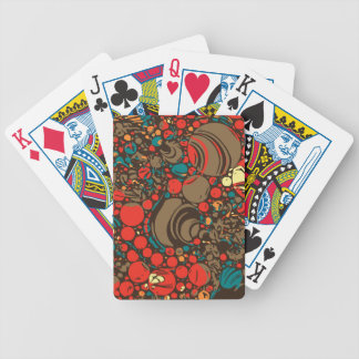 Red Brown Orange Abstract Bicycle Playing Cards