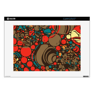 Red Brown Orange Abstract Laptop Decal
