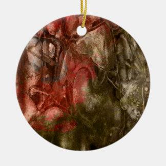 Red/Brown stone texture Ceramic Ornament