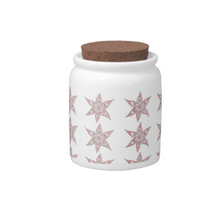 Red-Brown Traditional Design Candy Jar