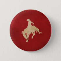 Red Brown Vintage Cowboy Button