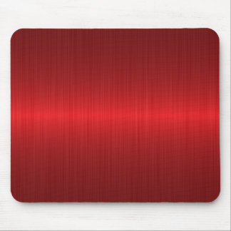 red brushed metal mouse pad