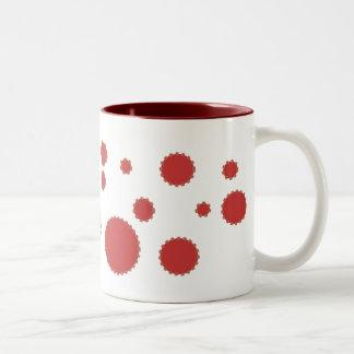 red bubble mugs