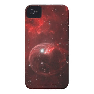 Red bubble nebula in space iPhone 4 covers